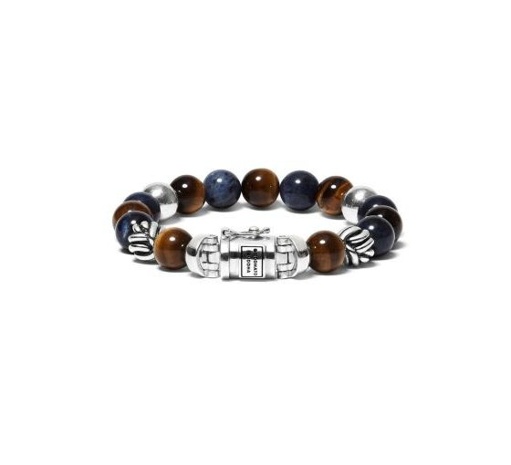 Buddha to Buddha armband Spirit Bead Mix Sodalite Tigereye dames en heren 925 sterling zilver Farfalla Rotterdam
