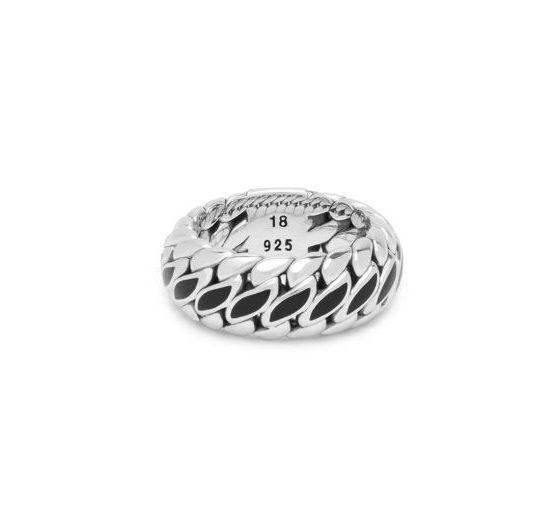 Buddha to jBuddha ring Ben Special zwart dames en heren 925 sterling zilver collectie Farfalla Rotterdam