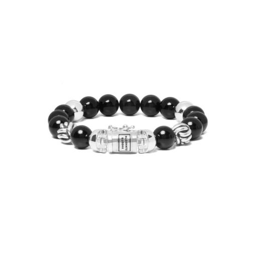 Buddha to Buddha armband spirit bead onyx dames en heren 925 sterling zilver Farfalla Rotterdam