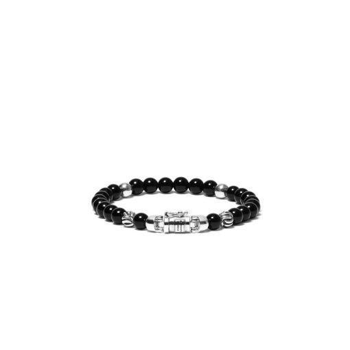 Buddha to Buddha armband spirit bead mini onyx dames 925 sterling zilver Farfalla Rotterdam