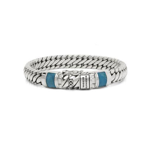 Buddha to Buddha armband Ben XS stone turquoise dames 925 sterling zilver Farfalla Rotterdam
