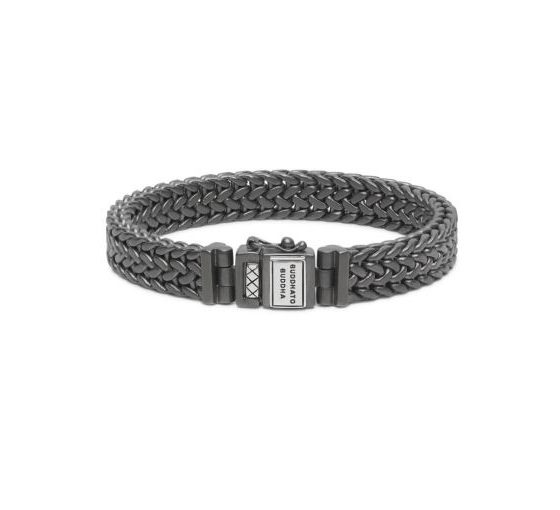 Buddha to Buddha armband Julius Black Rhodium Silver Matt dames heren 925 sterling zilver collectie Farfalla Rotterdam