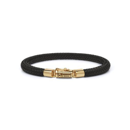 Buddha to Buddha armband Bennett goud leer dames heren gold collection Farfalla Rotterdam