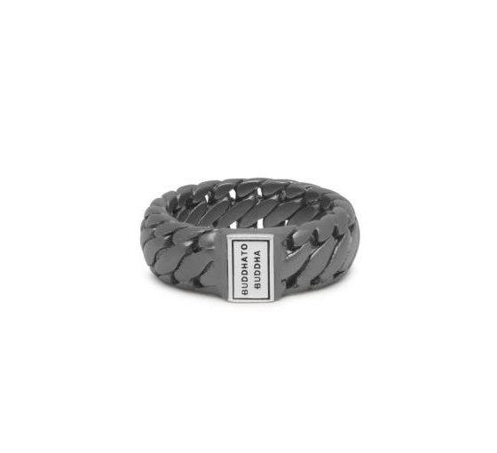 Buddha to Buddha Ben small ring Black Rhodium Silver Matt dames en heren 925 sterling zilver Farfalla Rotterdam