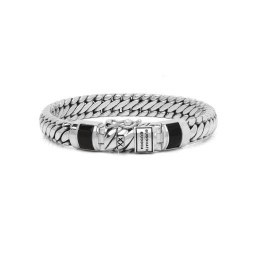 Buddha to Buddha armband Ben XS stone onyx dames 925 sterling zilver Farfalla Rotterdam