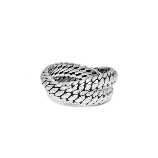 Buddha ring Ben dubbel dames en heren 925 sterling zilver collectie Farfalla Rotterdam