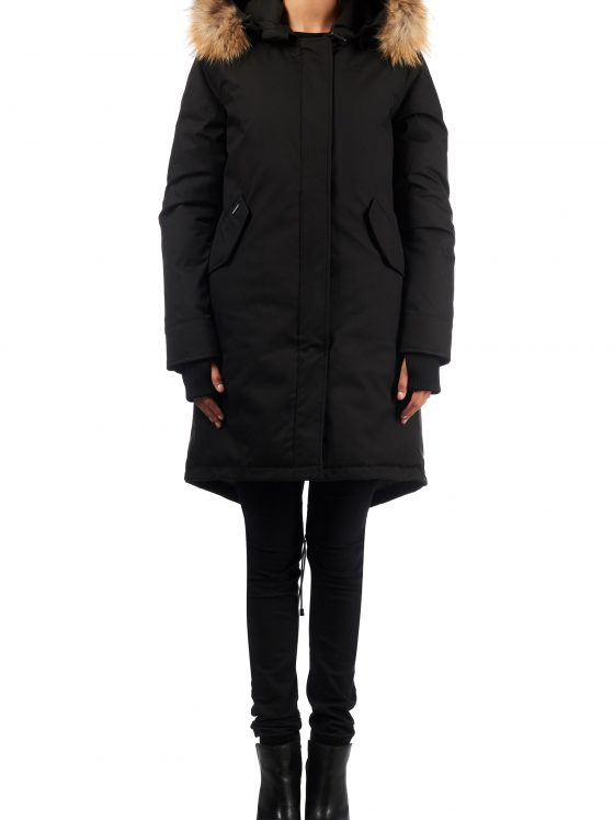 Airforce Fishtail parka HB RF zwart dames wintercollectie Farfalla Rotterdam