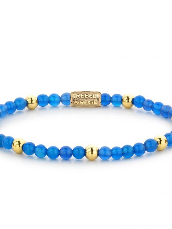 Rebel and rose armband more balls than most Bright blue 4mm dames farfalla rotterdam