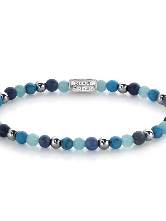 Rebel and Rose armband more balls that most Blue Summer vibes II 4mm damens farfalla Rotterdam
