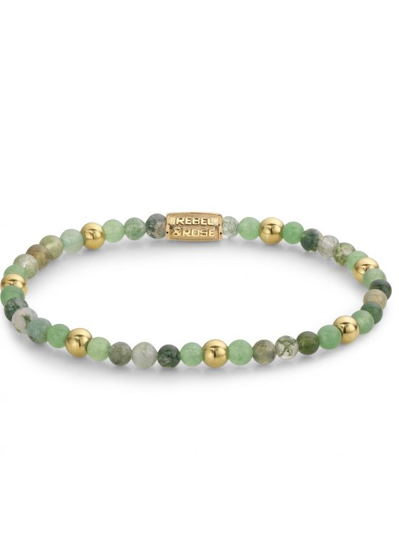 Rebel and Rose armband More Balls Than Most Green Morning Vibes 4mm Dames Farfalla Rotterdam