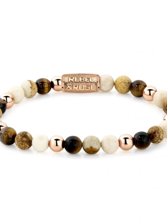 Rebel and Rose armband More Balls Than Most Autumn Love 6mm 18 ct rose gold plated Dames Farfalla Rotterdam