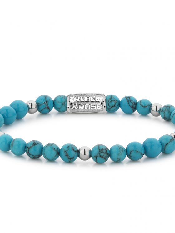 Rebel and Rose armband More Balls Than Most Turquoise Delight II - 6mm plated Dames Farfalla Rotterdam