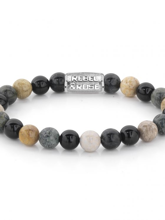 Rebel and Rose armband Stones Only Autumn Storm 8mm Dames Heren Farfalla Rotterdam