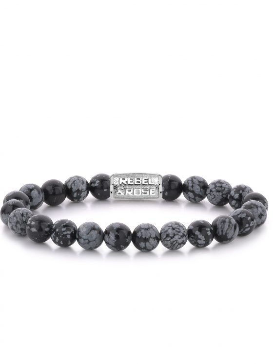 Rebel and Rose armband Stones Only Black Leopard 8mm Dames Heren Farfalla Rotterdam