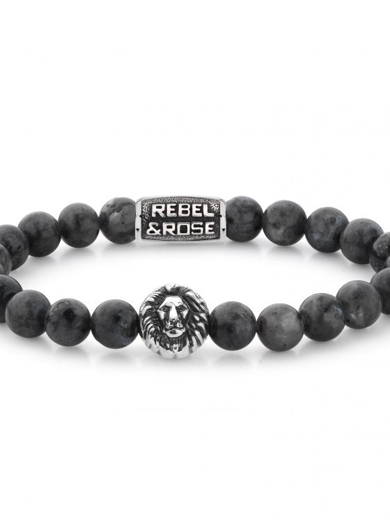 Rebel and Rose armband Lion Head Grey Seduction Dames Heren Farfalla Rotterdam