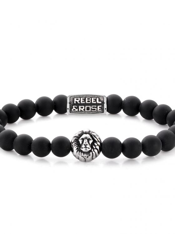 Rebel and Rose armband Lion Head Mad Lion 8mm Dames Heren Farfalla Rotterdam