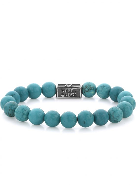Rebel and Rose armband Silverbeads Turquoise Delight 925 8mm Dames Heren Farfalla Rotterdam