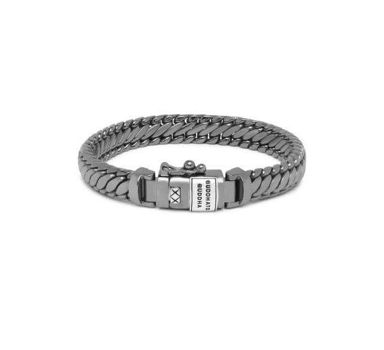 Buddha to Buddha armband Ben XS Black Rhodium Shine Silver dames en heren 925 sterling zilver Farfalla Rotterdam