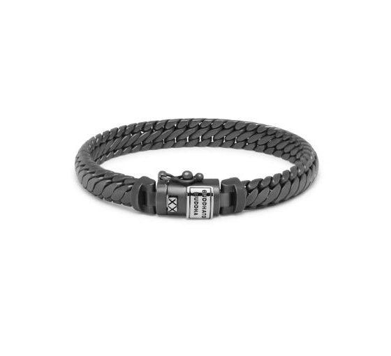 Buddha to Buddha armband Ben XS Black Rhodium Silver Matt dames heren 925 sterling zilver collectie Farfalla Rotterdam
