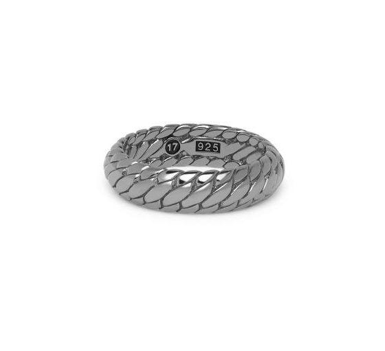 Buddha to Buddha ring Ben XS Black Rhodium Shine Silver dames en heren 925 sterling zilver Farfalla Rotterdam