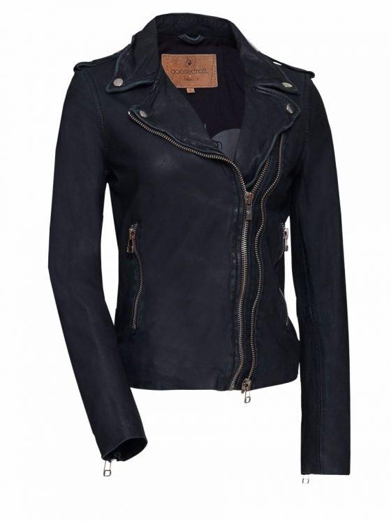Goosecraft biker 513 leer dames black Farfalla Rotterdam