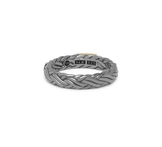 Buddha to Buddha ring Katja XS Black Rhodium Shine Gold dames en heren 925 sterling zilver Farfalla Rotterdam