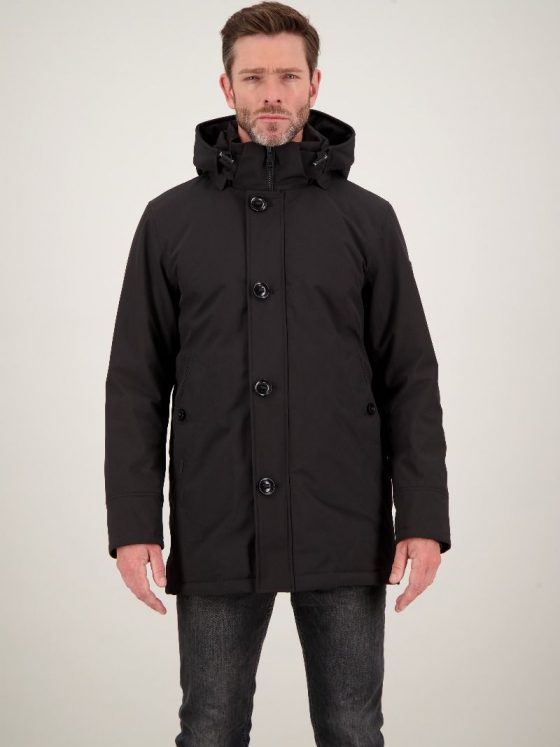 Airforce William Parka zwart heren wintercollectie Farfalla Rotterdam