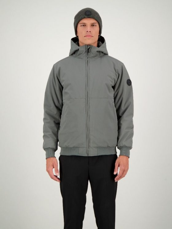 Airforce Padded bomber gun metal heren wintercollectie Farfalla Rotterdam