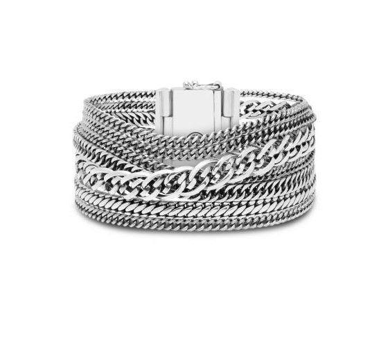 Buddha to Buddha armband Multi Chain Nathalie dames en heren 925 sterling zilver Farfalla Rotterdam