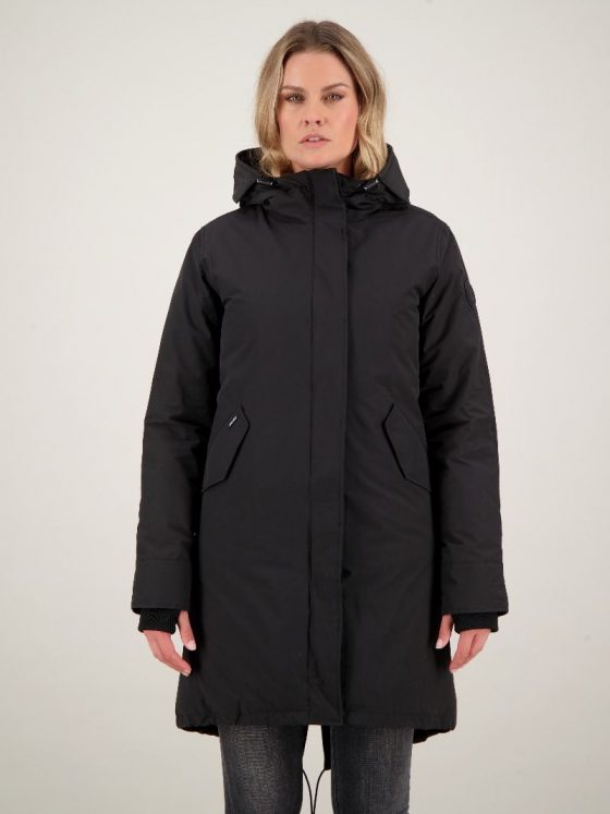 Airforce Fishtail parka Ice zwart dames wintercollectie Farfalla Rotterdam