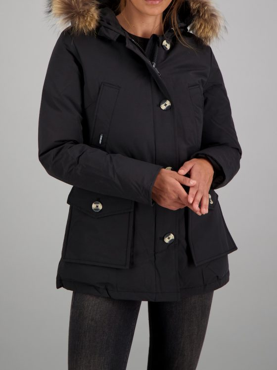Airforce 4 pocket CP RF parka zwart dames wintercollectie Farfalla Rotterdam