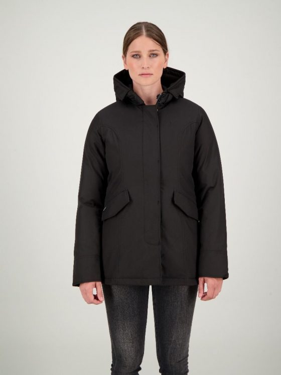 Airforce 2 pocket HB parka zwart dames wintercollectie Farfalla Rotterdam