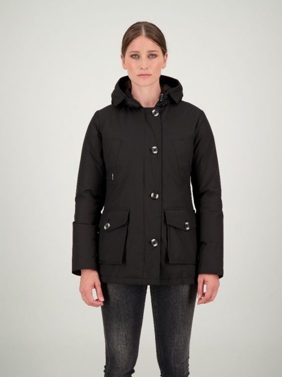 Airforce 4 pocket zwart dames wintercollectie Farfalla Rotterdam